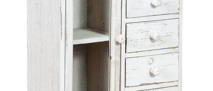 Mini Cassettiera In Legno.Mini Cassettiera Shabby In Legno Di Paulonia L33xpr15xh41 5 Cm Finitura Bianca A