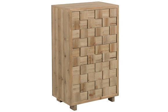 Cassettiera Quadri rettangolari in legno naturale