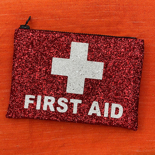 I Know the Queen Glitter Clutch - First Aid