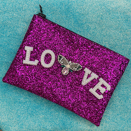 I Know the Queen Glitter Clutch - Love