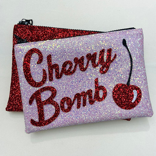 PRE-ORDER I Know the Queen Glitter Clutch -Cherry Bomb