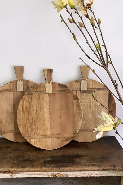 round platter elm board