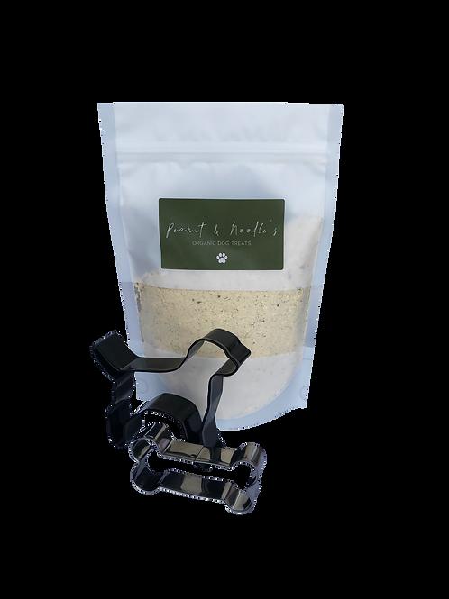 Organic Peanut Butter Dog Treat Mix & Cookie Cutter - Make at Home 250g