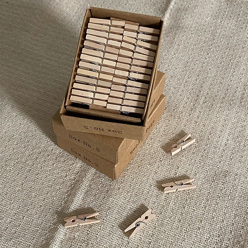 Little Box of Stationery Essentials Box 2 - Wooden Pegs