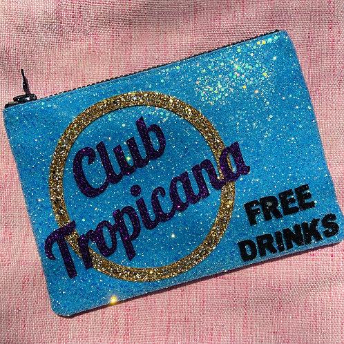 I Know the Queen Glitter Clutch - Club Tropicana