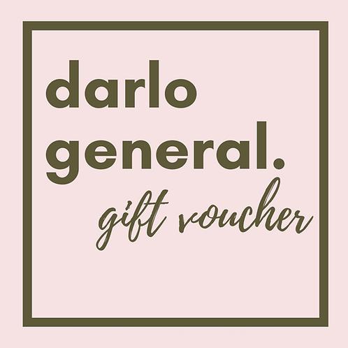 Darlo General Gift Voucher $50