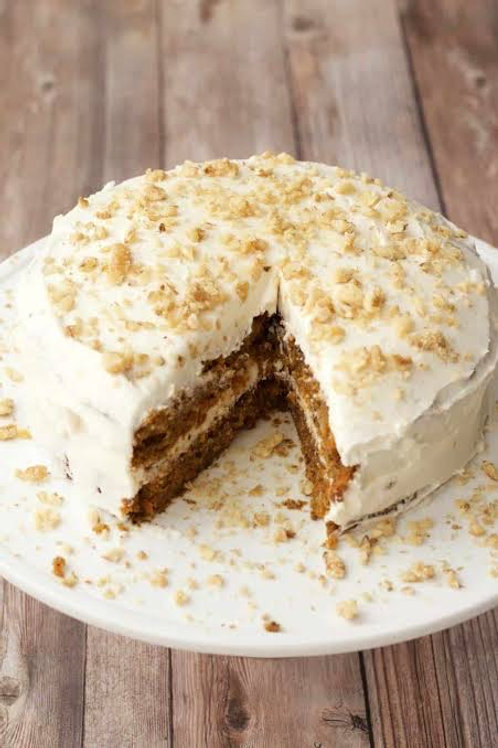 whole carrot cake with french vanilla icing
