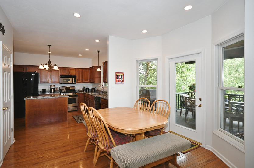 Eat-in kitchen leads to the deck!