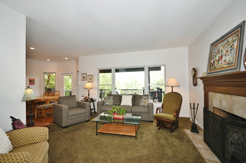 Family room with tons of natural light!