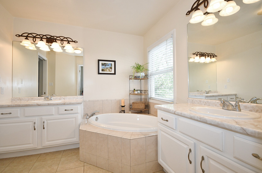 Owner's bath with soaking tub!