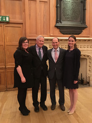 QUB Law School hosted the Annual  Queens University, Fordham Law and University College Dublin summer school attended by Lecturers and students from each university.  Dean John Feerick from Fordham Law and Martin McClure (Northern Ireland Human Rights Fund) with Erin Ferry and Katie Dallon