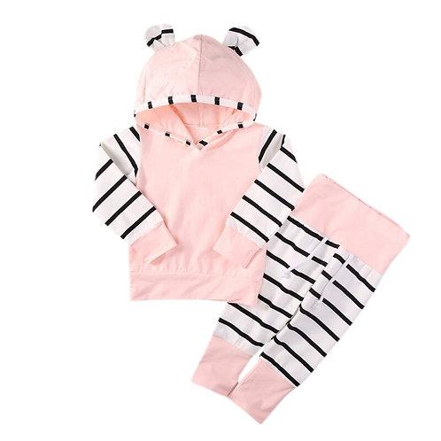 Pink Hoodie & Pants Set