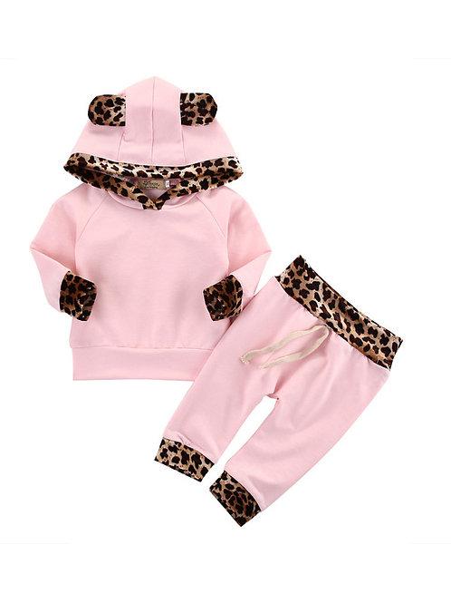 Pink Leopard Print Set