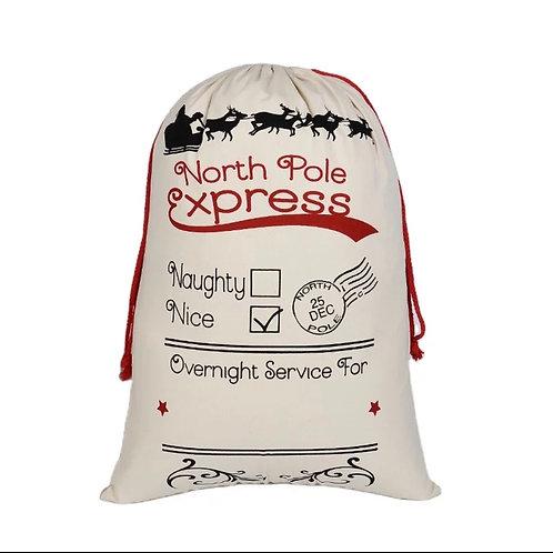 North Pole Express Santa Sack