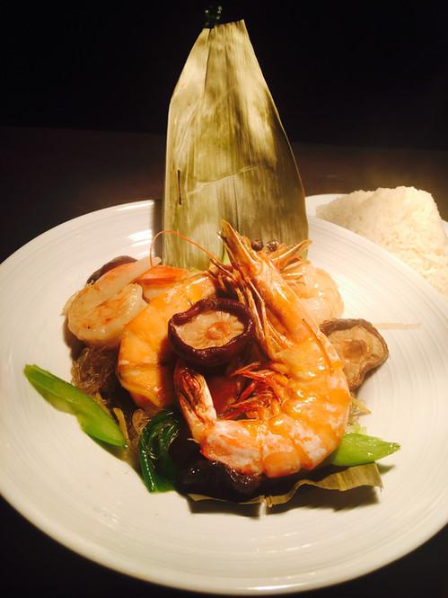 Shrimp in the pot (kung ob woon sen)