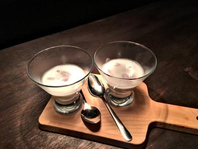 Tapioca  balls in creamy coconut milk