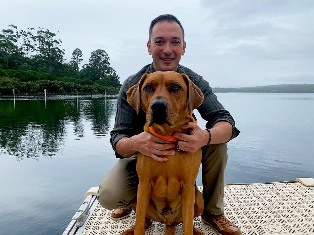 Dogs in Australia, oyster farm