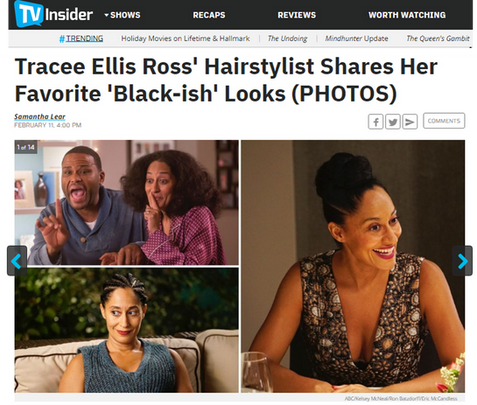 TV Insider Blackish Araxi Lindsey Lumos Public Relations