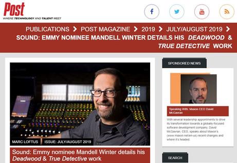 POST Magazine Mandell Winter Lumos PR