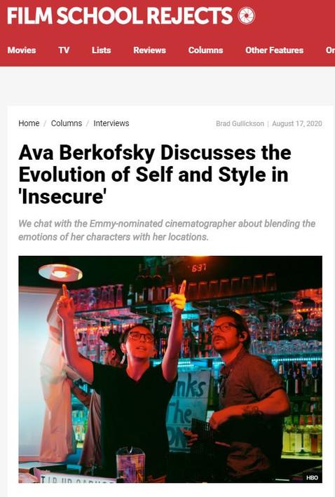 Insecure Cinematographer Ava Berkofsky Lumos P