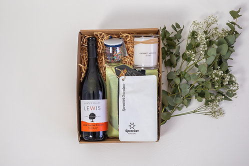 The Pamper Hamper with Shiraz and Peppermint Scrub