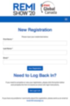 REMI Show Online Registration
