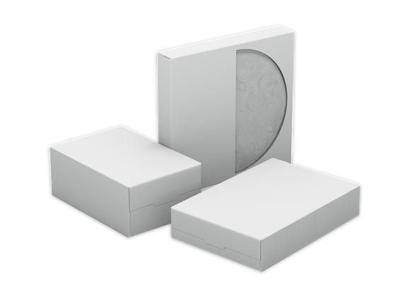 Cardboard White Medium Boxes