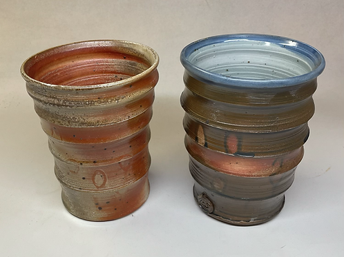 Vases or utensil holders or giant cups, sold individually or as a pair