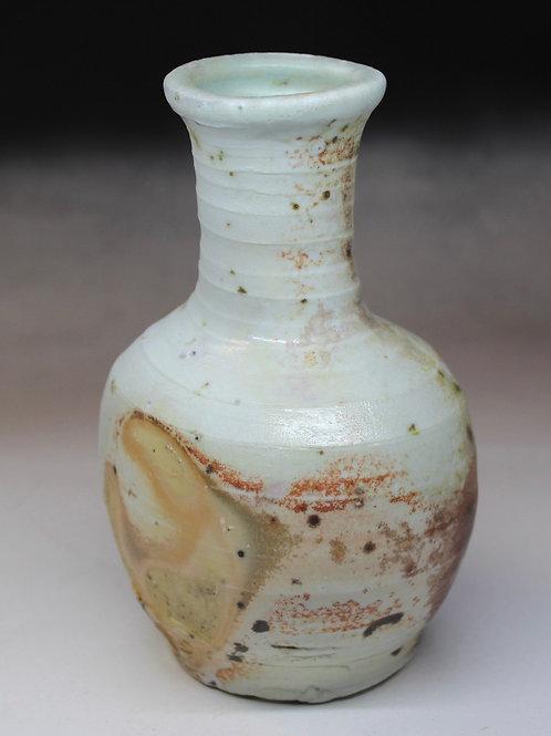 Wood fired porcelain vase