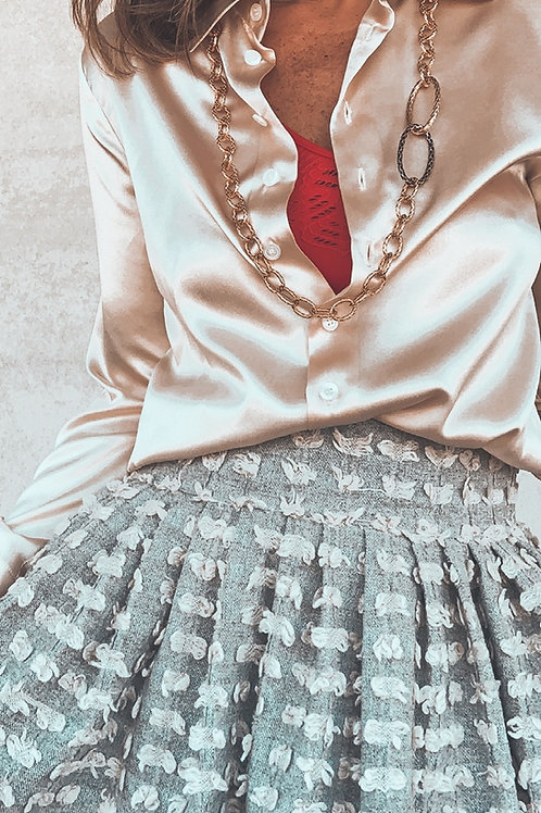 Camicia in seta Leopoldine crème