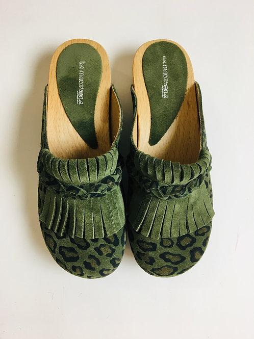 Clogs Annie camouflage vert W