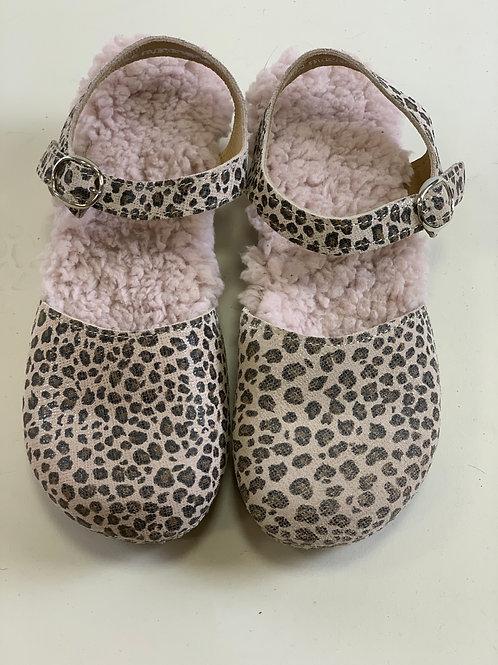 Clogs Talì pink camouflage eco-pelliccia