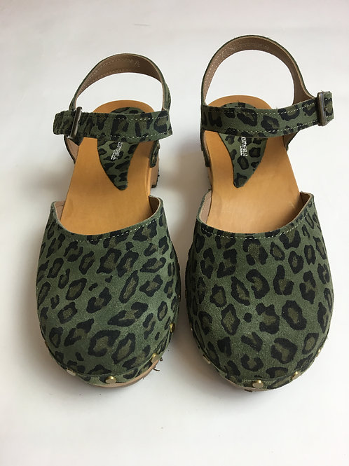 Clogs Grace Vert Camouflage