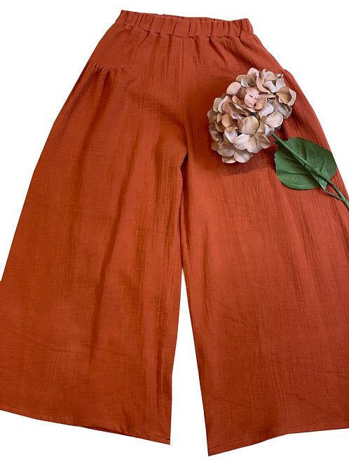 Pantaloni Charlotte terracotta