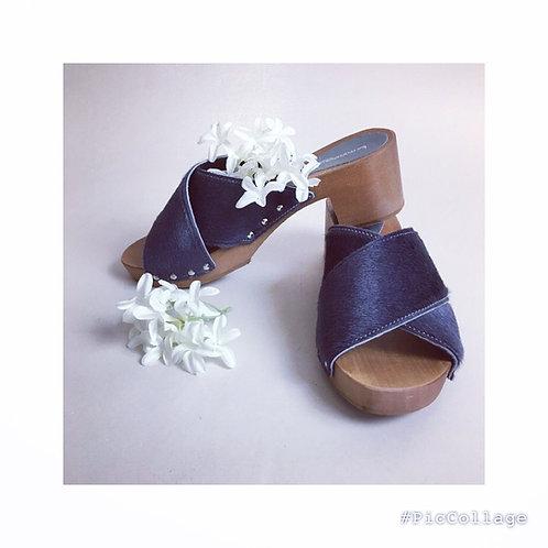 Sandali cavallino carbone