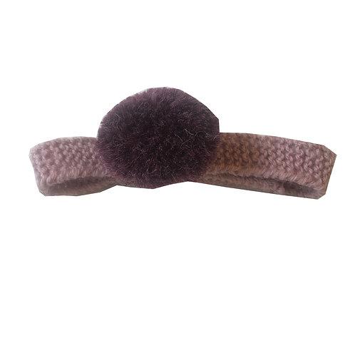 Fascetta in lana con pompon