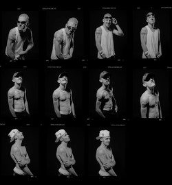 Sinister Hoodlums contact sheet