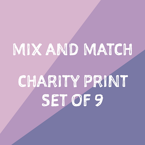 Mix and Match Charity Set of 9
