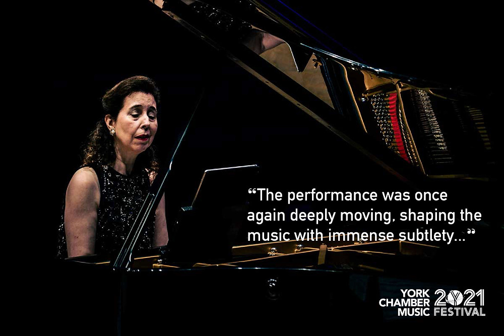The performance was once again deeply moving, shaping the music with immense subtlety.