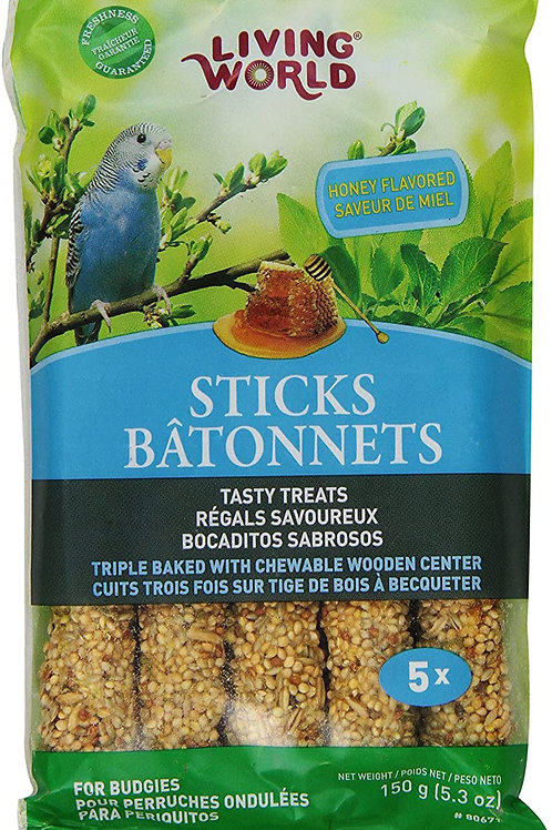 Living World Budgie Honey Sticks