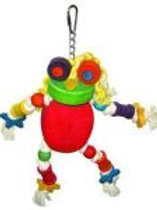 Happy Beaks Silly Frog Toy