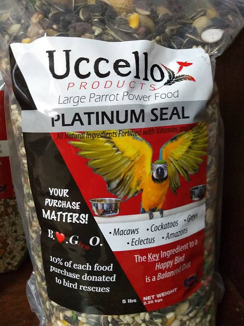 Uccello Large Parrot Power Food - PLATINUM SEAL