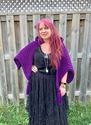 Purple Haze Hooded Cape