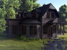Haus exterior Rendering