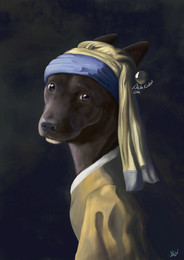 Dawg with Pearl Earring