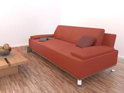 Rendering eines Sofas
