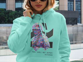 EXCUSE MY ACCENT RELEASES LIMITED HOODIE SUPPORTING ENDING DEPORTATION OF AMERICAN VETERANS -
