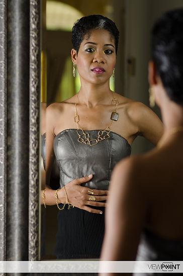 Model wearing jewellery