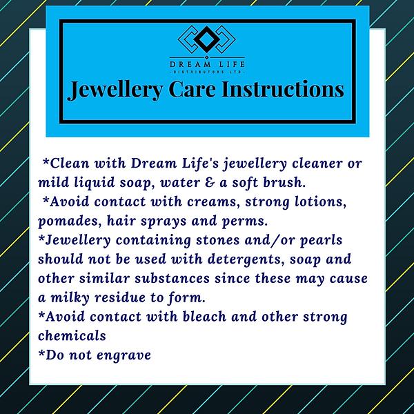 Jewellery care instructions