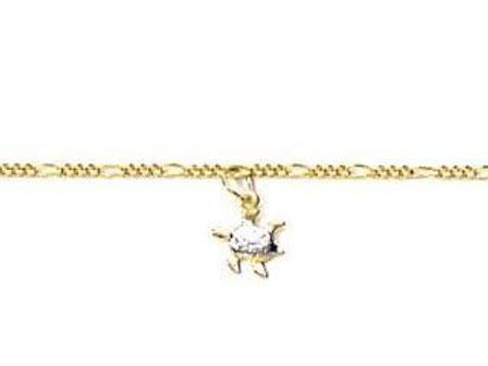 5502002500 Charm Turtle Anklet